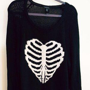 TORRID Sweater Black Distressed Sz 2 18/20 2X
